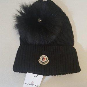 NWT MONCLER BLACK HATS MEN'S